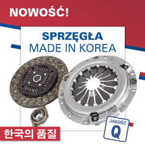Sprzęgła - made in Korea